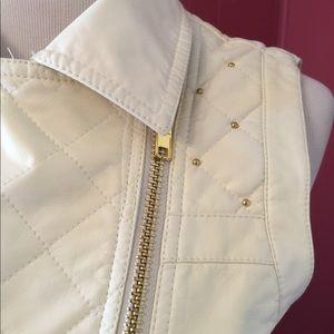 Forever 21 Faux Leather Zipper Vest